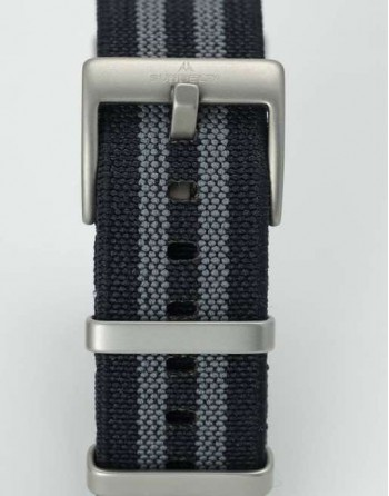 SUBDELTA Bond Style NATO Strap with Sandblasted buckle and keepers
