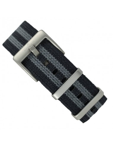 22 mm Bond Style NATO Strap Grey/Black