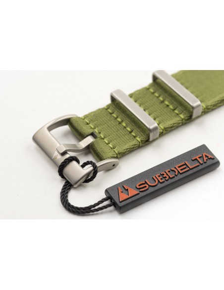 22mm Seatbelt NATO Watchband Singlepass Olive green Olive Drab with hangtag