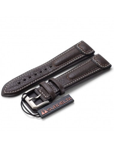 22 mm Brown Leather Pilot Strap