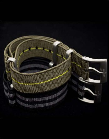 Subdelta Green Nato Strap 22 mm Paratrooper style French Parachute