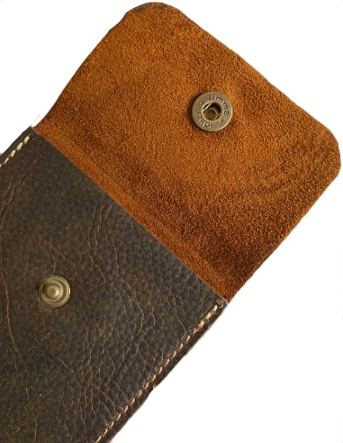 Leather watch pouch for traveling