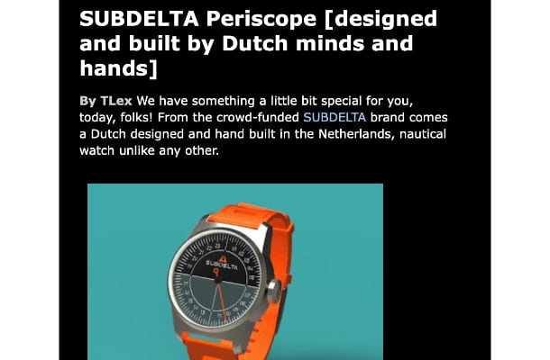 Review watches Subdelta