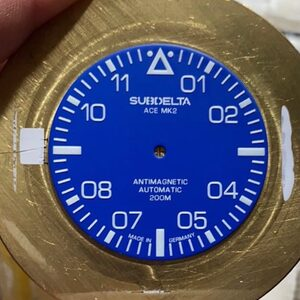 Midnight blue dial for the Subdelta Ace Mk2